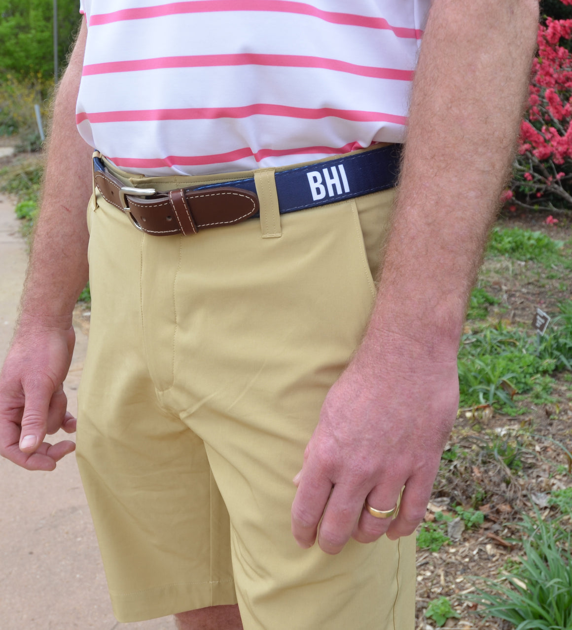 Printed Belt - Navy w/ BHI Text