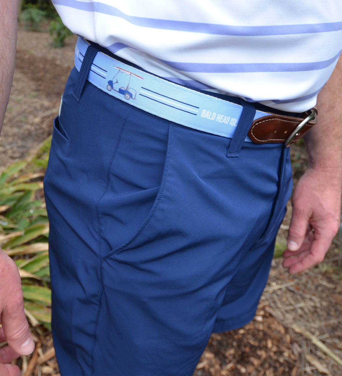 Printed Belt - Light Blue w/ Golf Cart