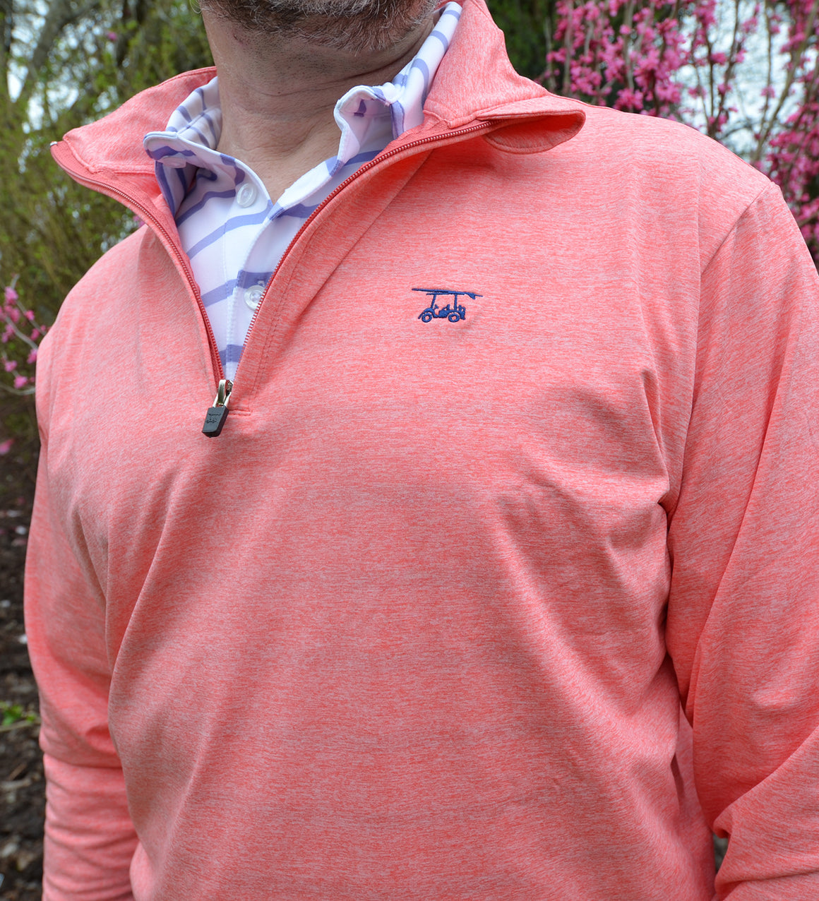 NEW Ocean View Quarter Zip- Heather Coral