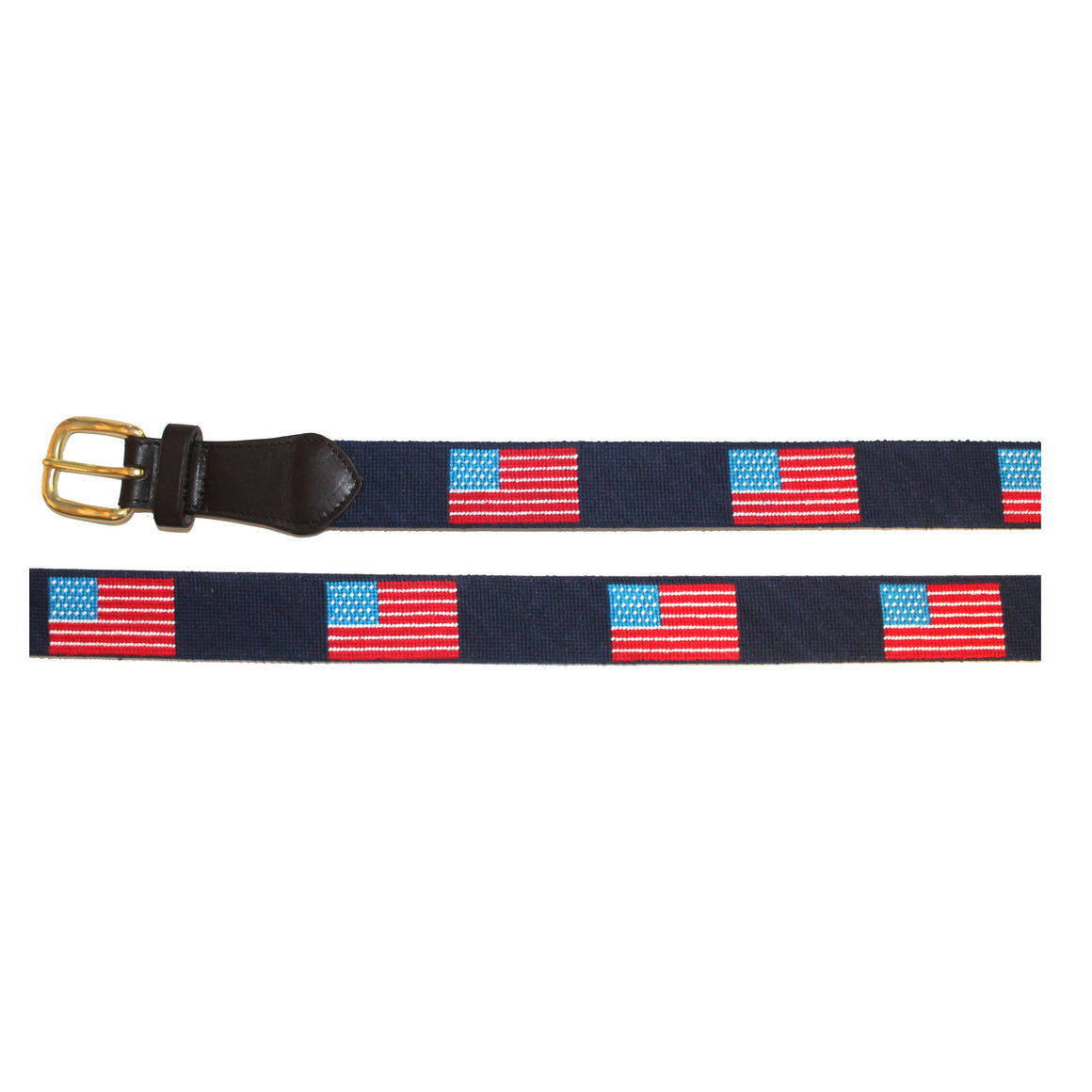 Needlepoint Belt - USA Flag