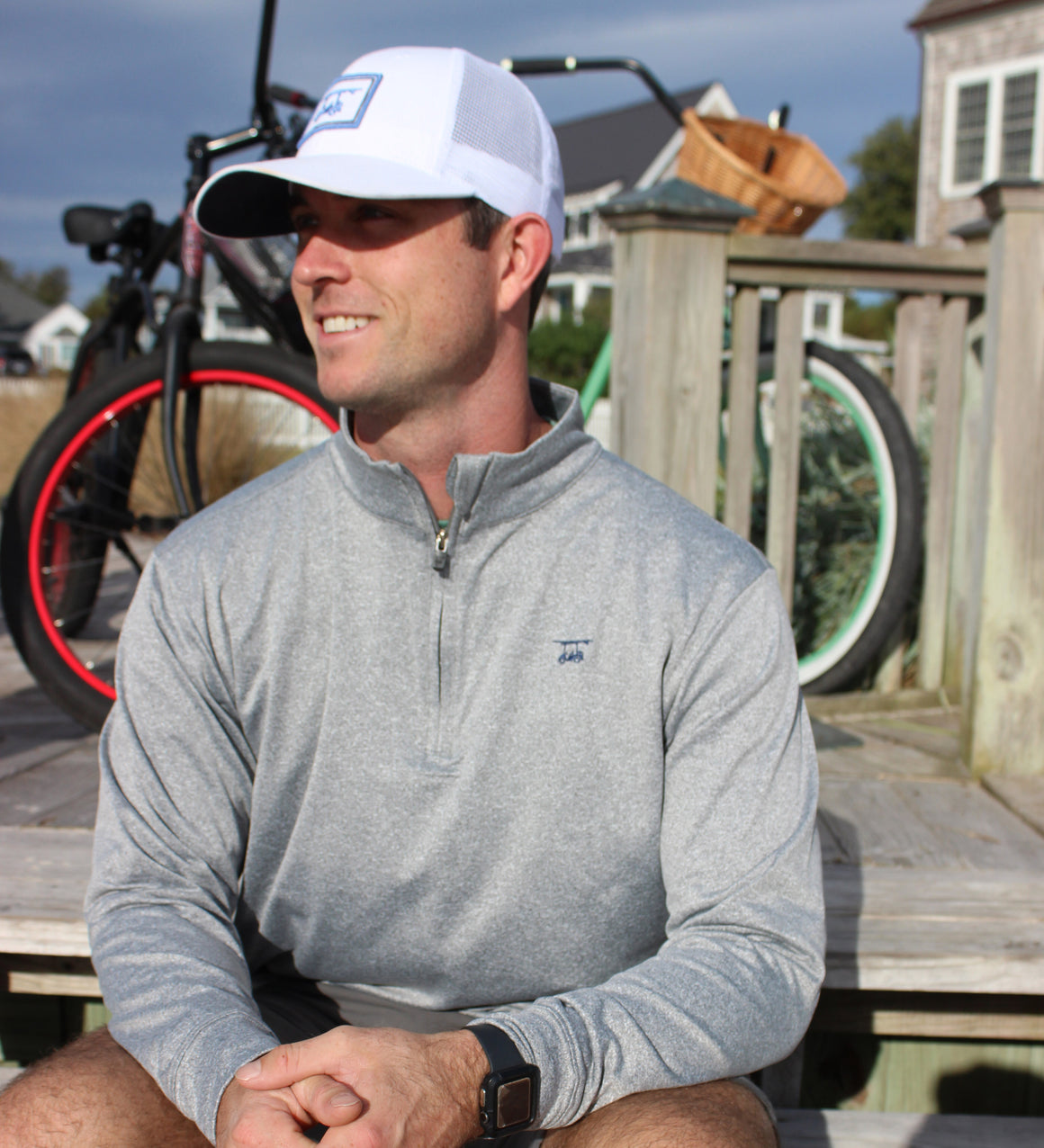 *NEW* Ocean View Quarter Zip- Heather Monument