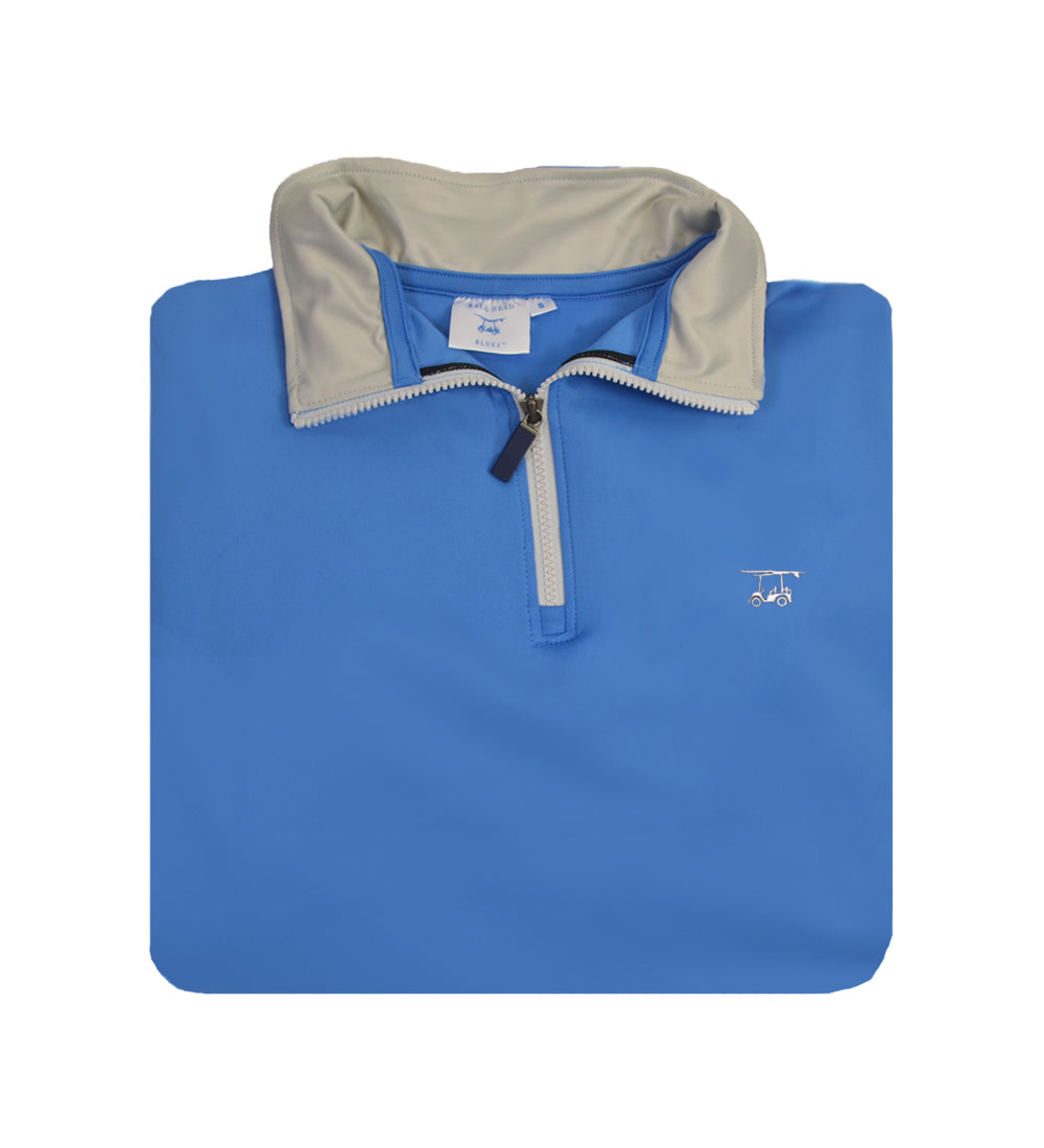 *NEW* Youth Dogwood Quarter Zip - Solid Regatta