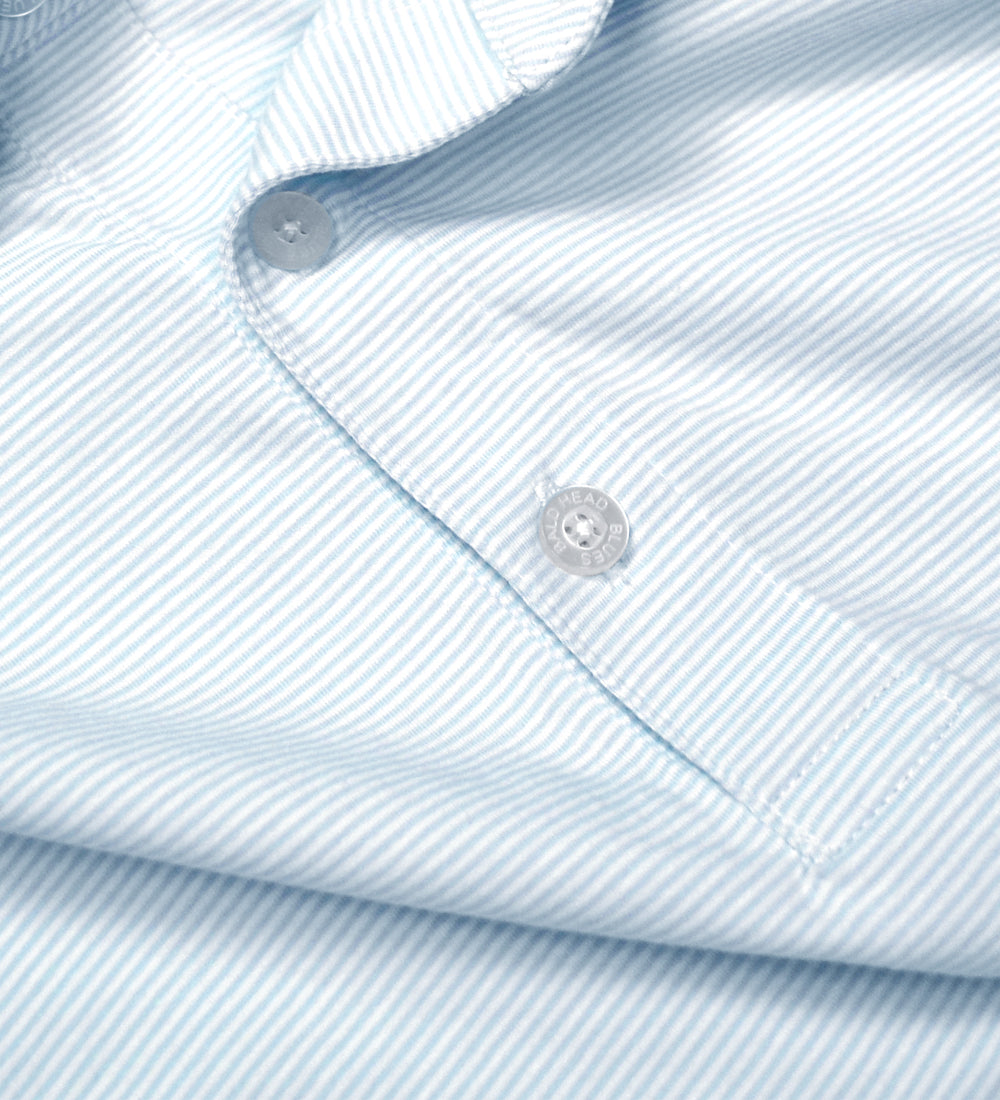 Ace Polo - Bell/White Micro Stripes