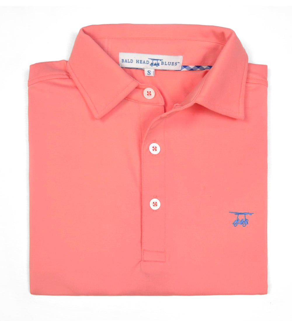 Albatross Polo - Solid Coral