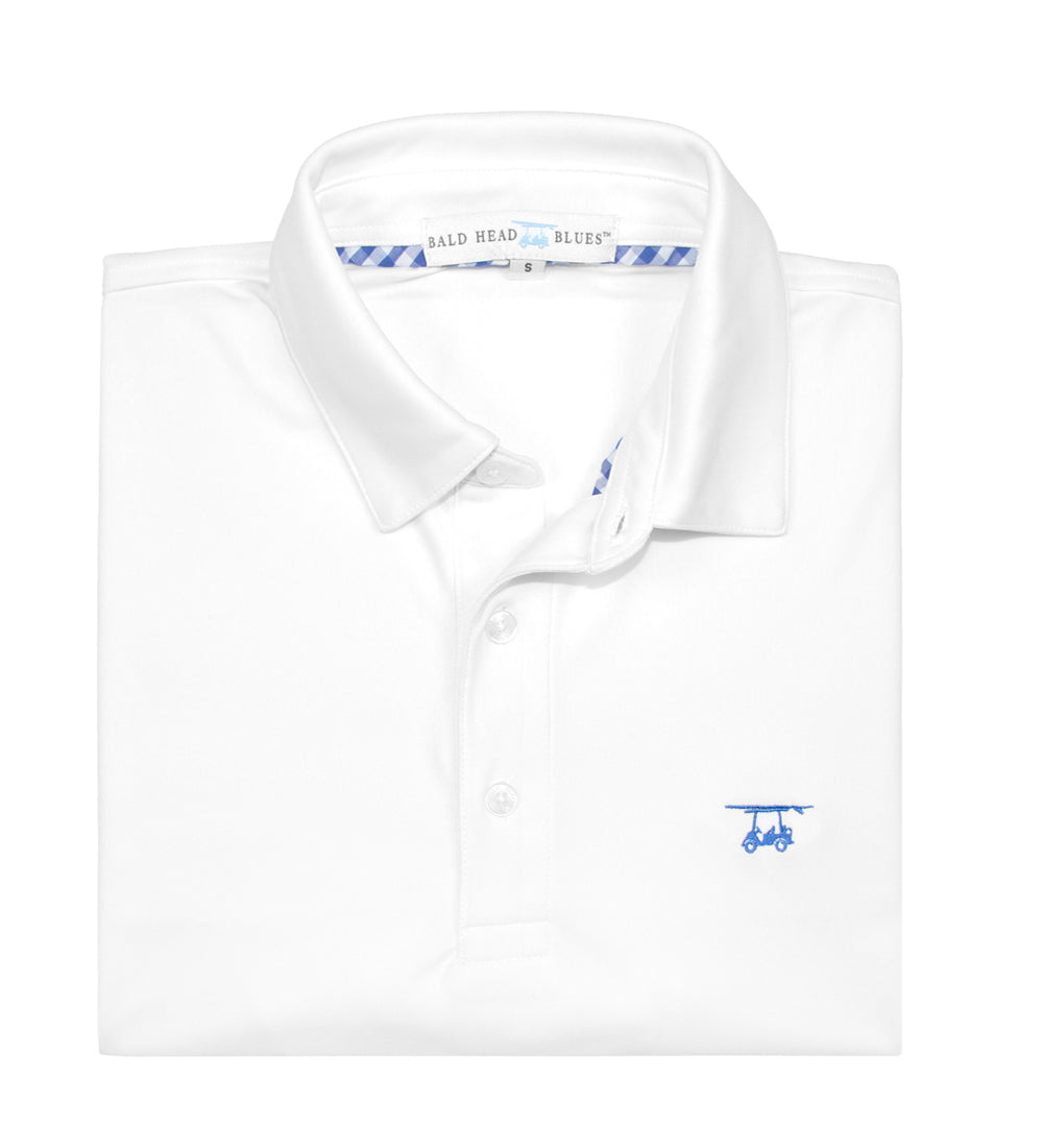 Albatross Polo - Solid White