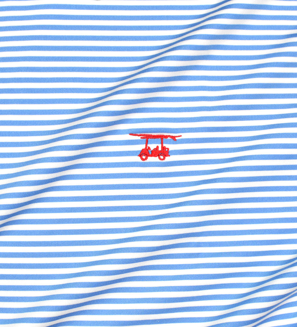 Albatross Polo - Blue/White Stripe