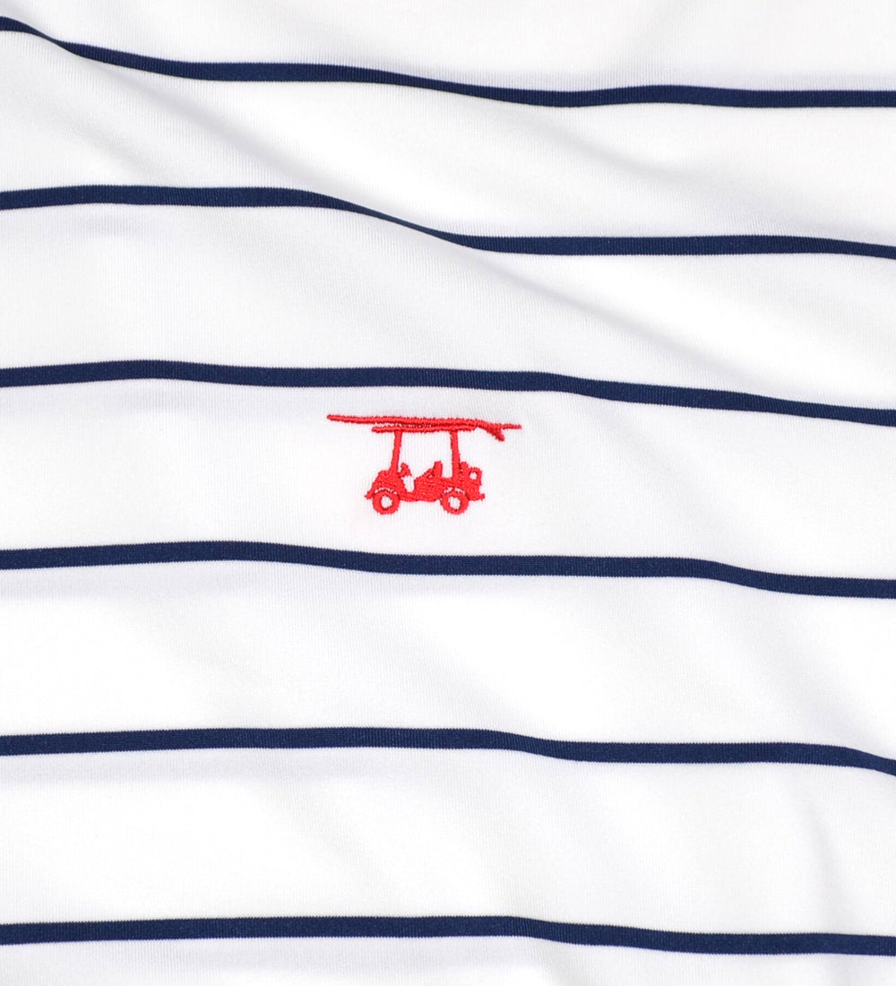 Albatross Youth Polo - White/Navy