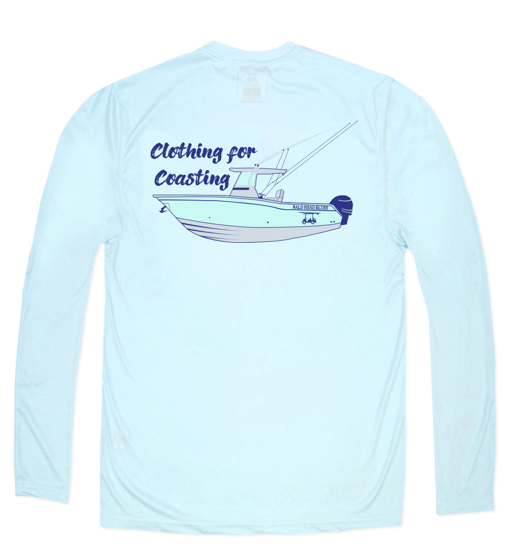 Performance Long Sleeve Boat T-Shirt - Arctic Blue