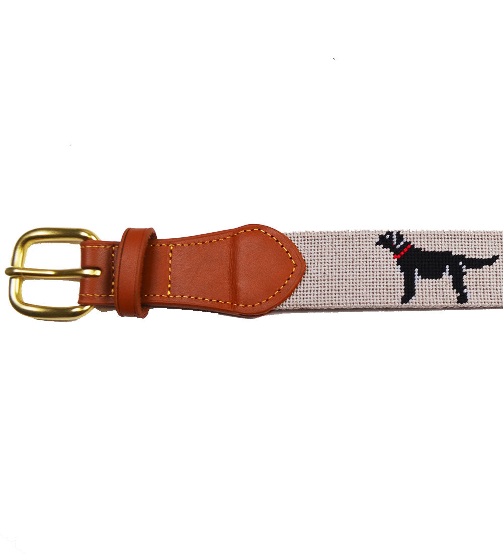 Needlepoint Belt - Black Lab