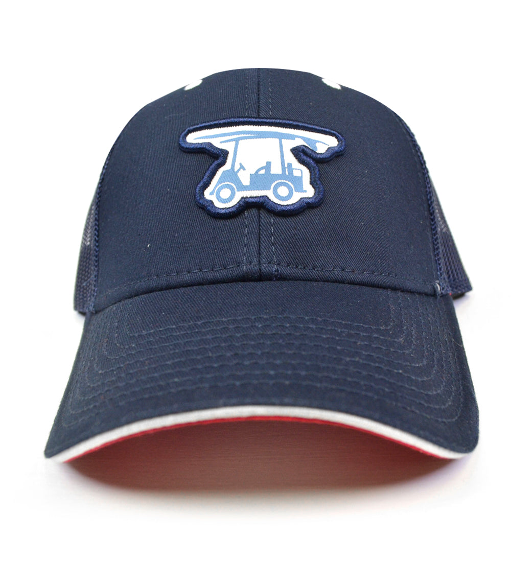 Coastal Mesh Trucker Hat - Navy Logo Hat - Bald Head Blues af268eb77d21