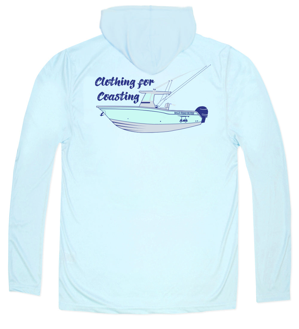 Performance Long Sleeve Boat Hoodie - Arctic Blue