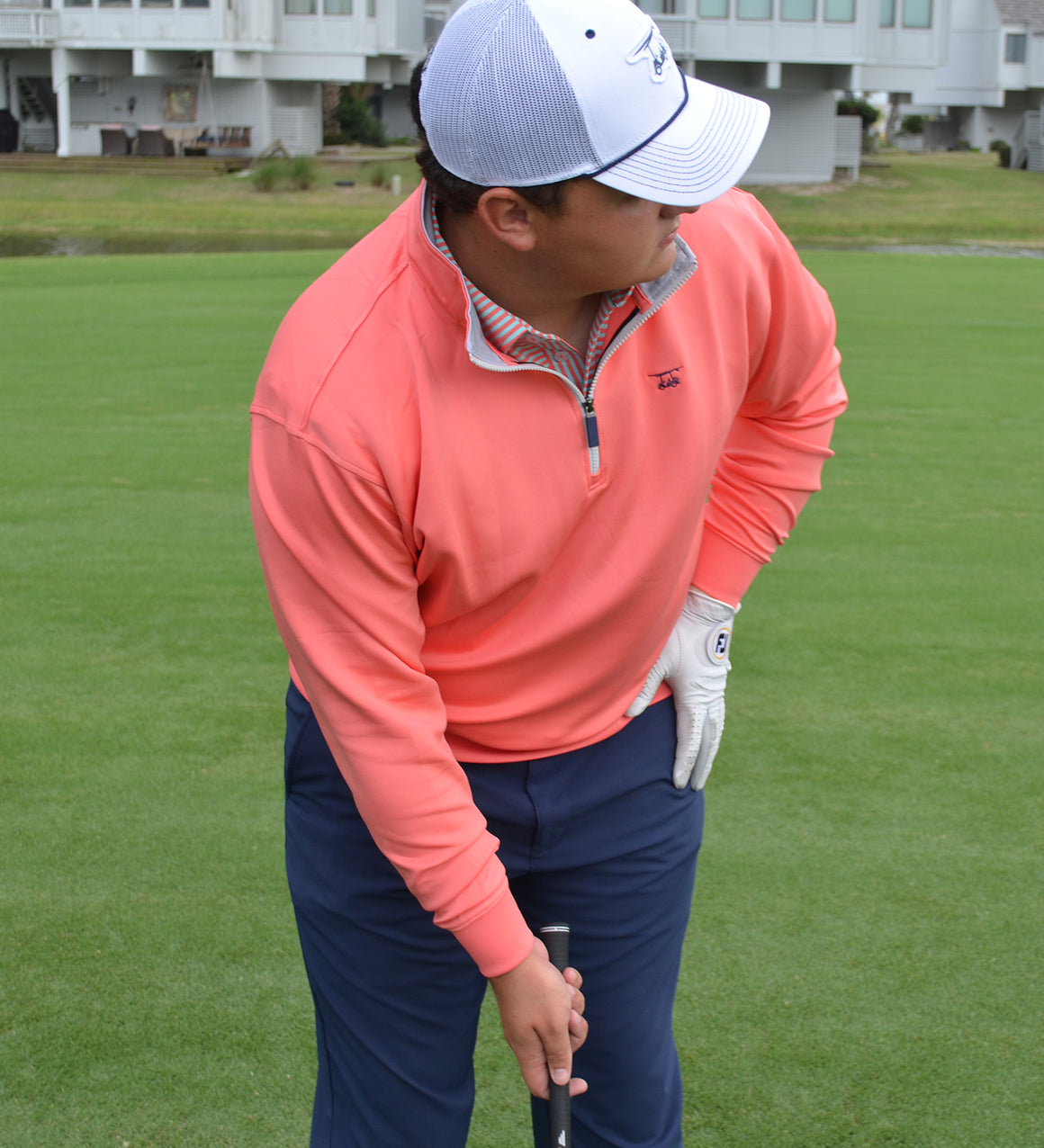 NEW Dogwood Quarter Zip- Solid Coral