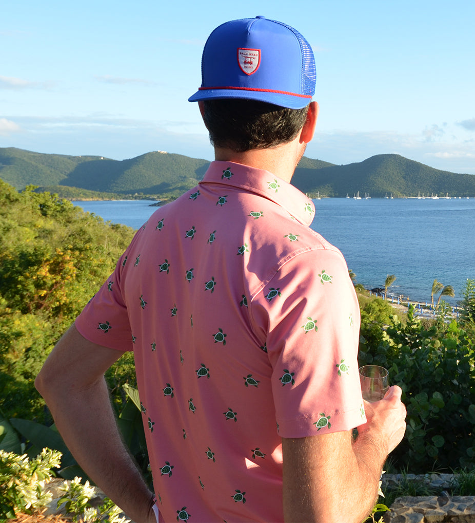 NEW Albatross Polo - Coral with Sea Turtles
