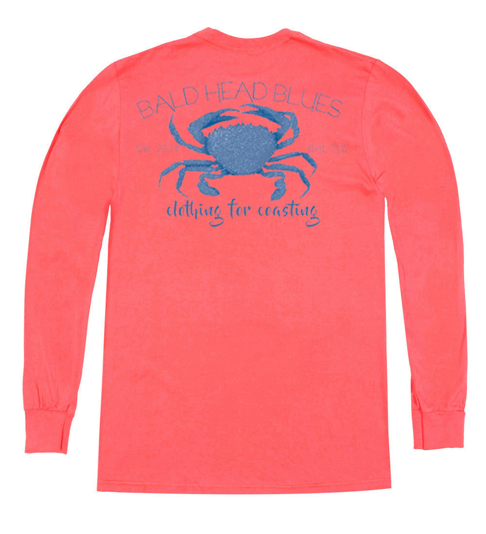 Island Tee - Long Sleeve Crab - Planters Punch