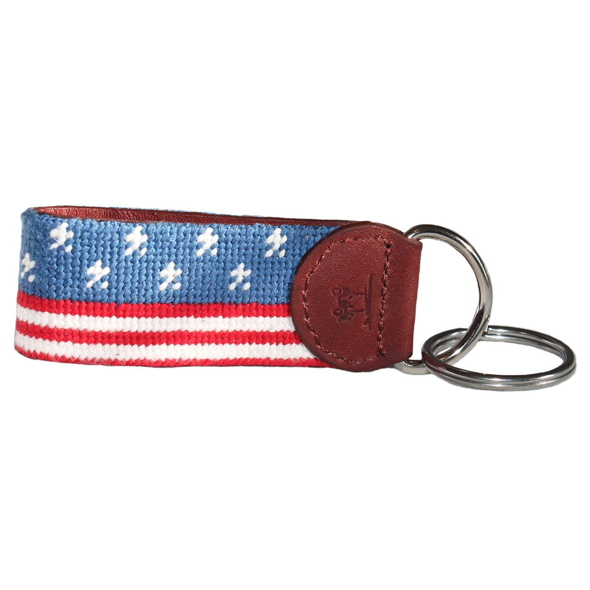 Needlepoint Key Fob - Stars and Stripes