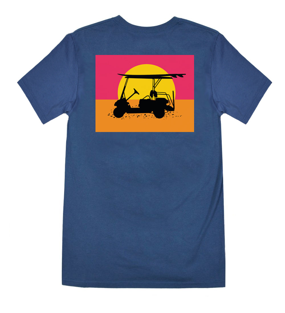 Island Tee - Endless Sunset - Navy
