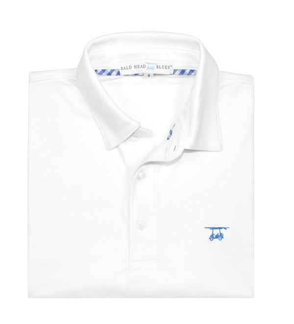 Fairway Performance Polo Shirt White Men S Golf Shirt