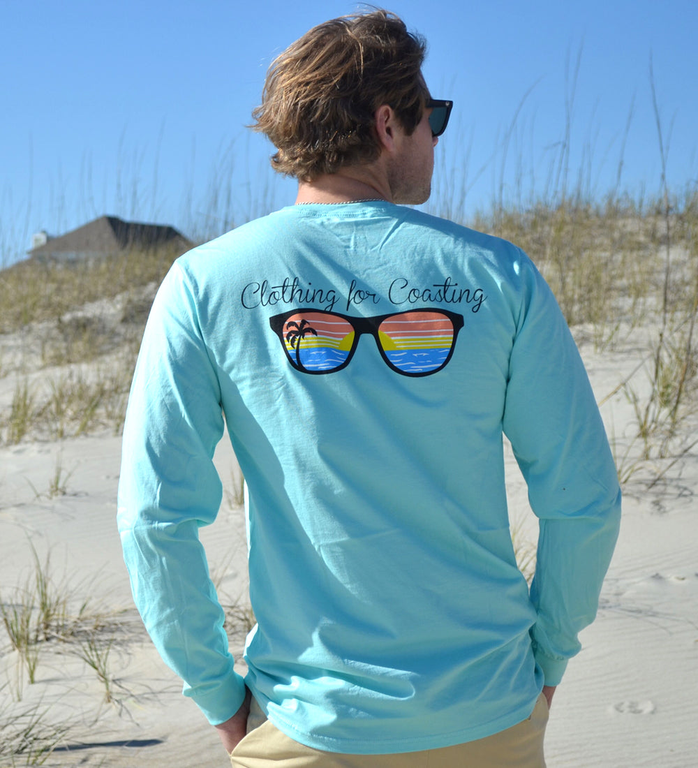 Island Tee - Long Sleeve Sunglasses - Clearwater Blue