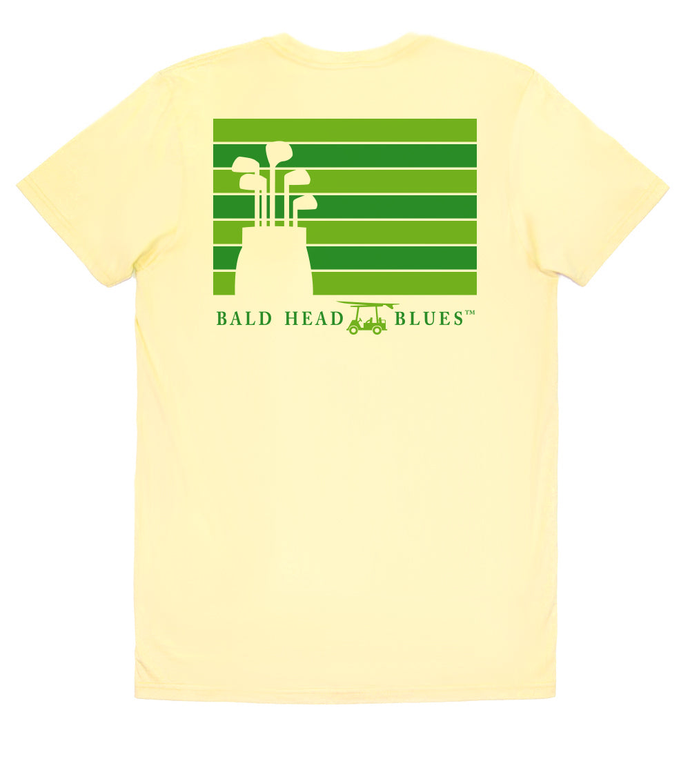 Island Tee - Short Sleeve Golf Clubs - Yellow