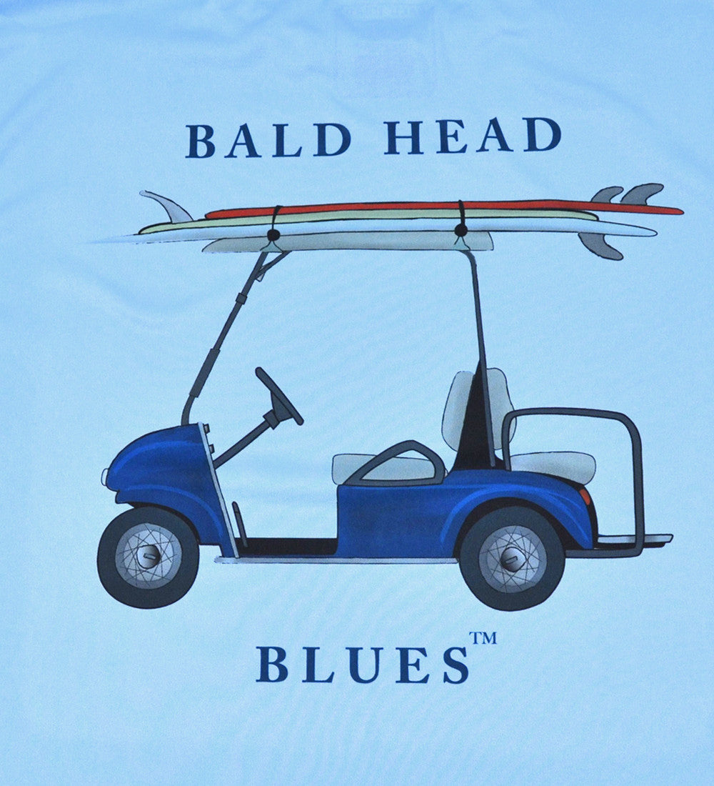 Performance Long Sleeve Golf Cart T-Shirt - Columbian Blue