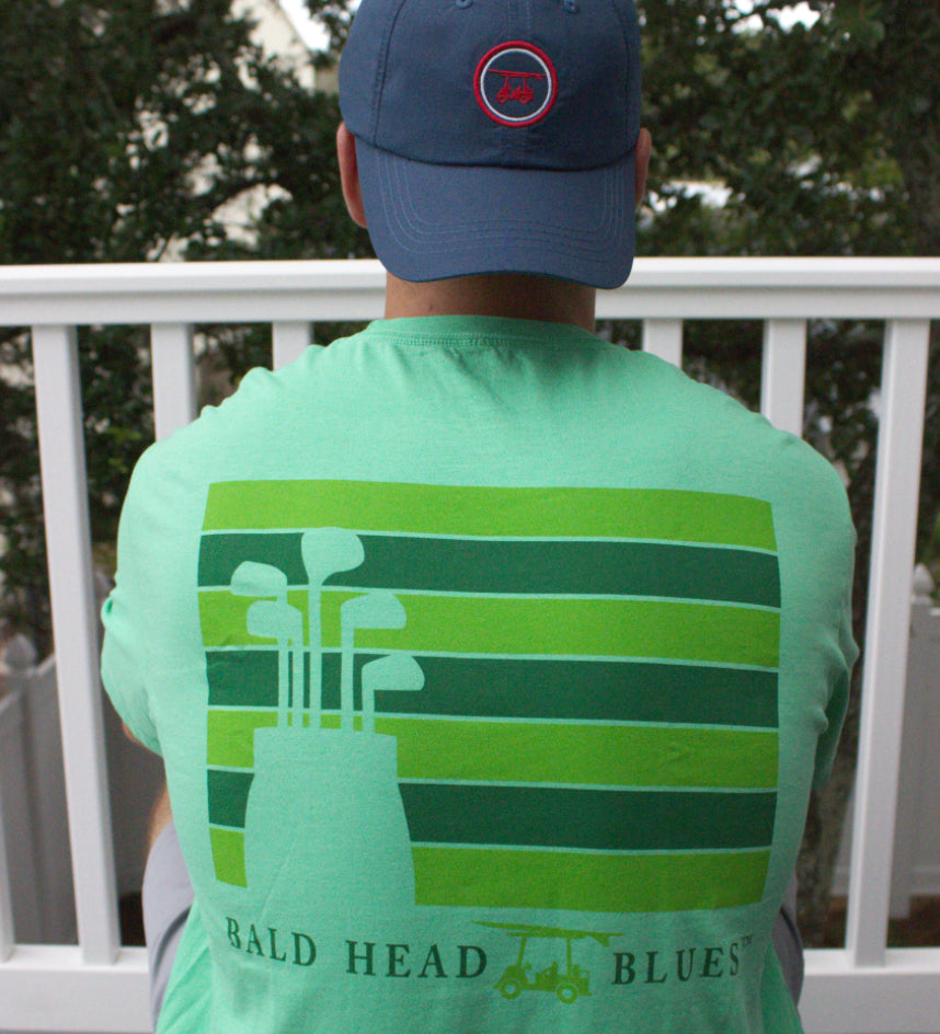Island Tee - Short Sleeve Golf Clubs - Clover Green