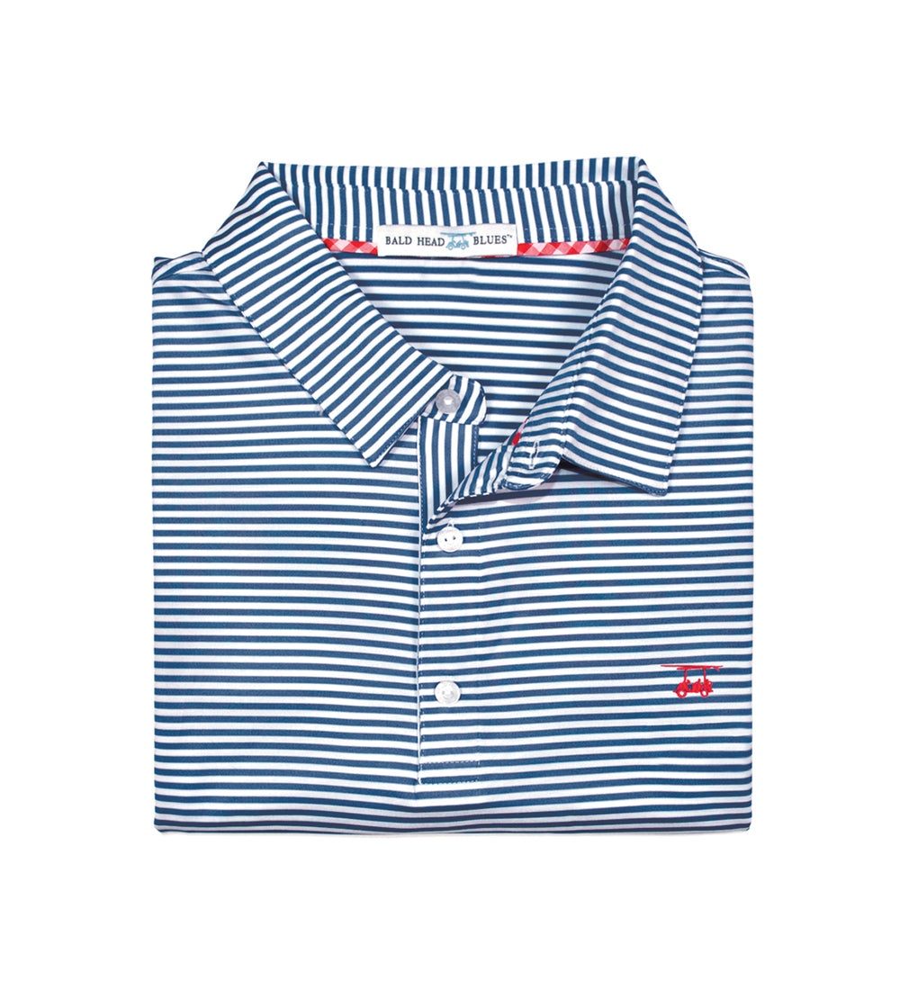Albatross Youth Polo - Navy/White