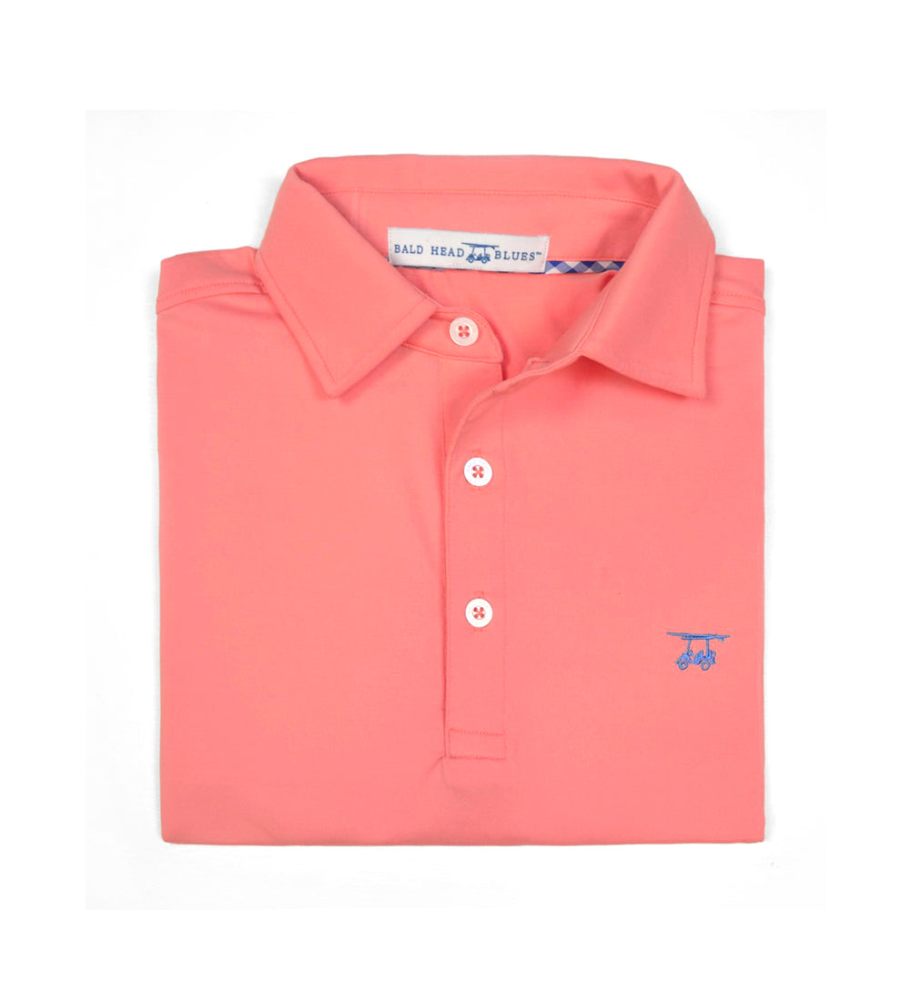 Albatross Youth Polo - Solid Coral