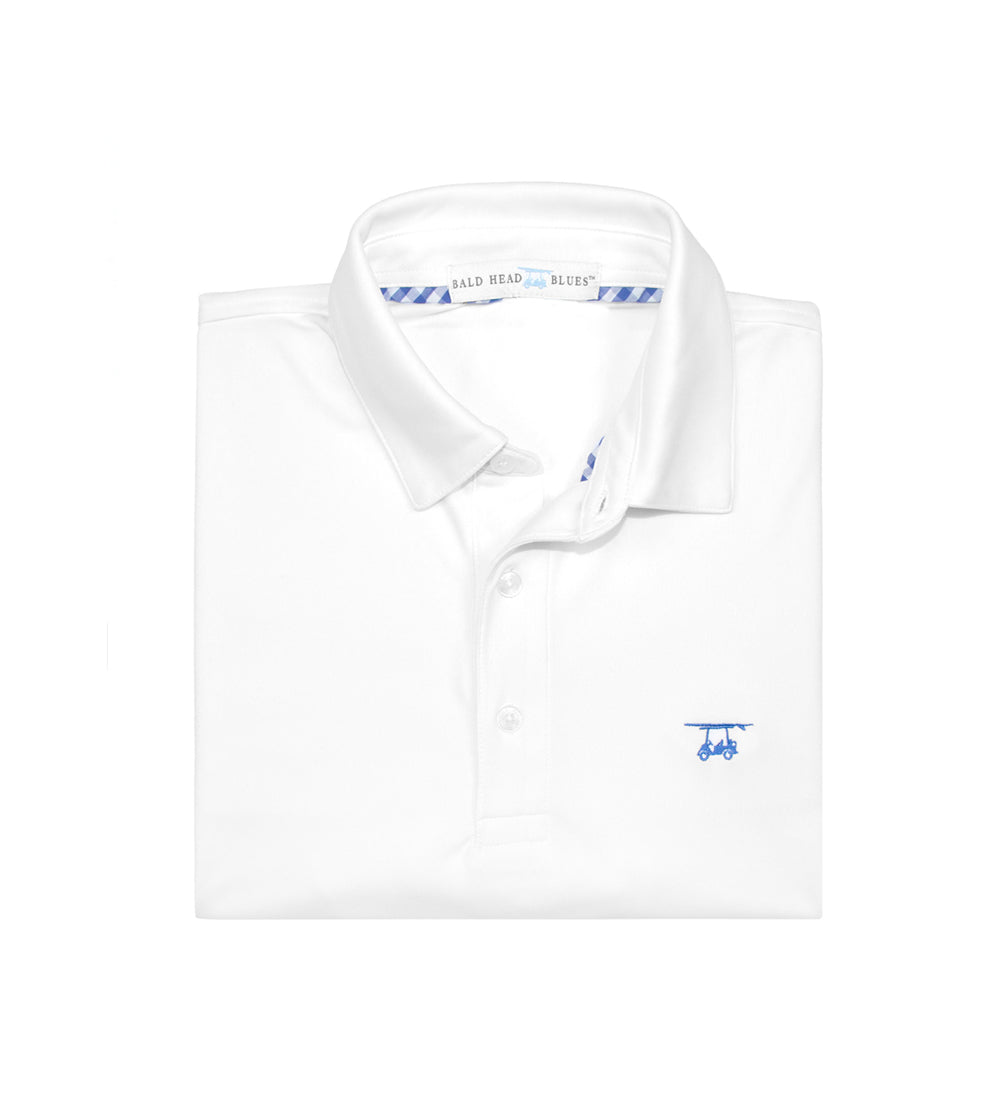 Albatross Youth Polo - Solid White