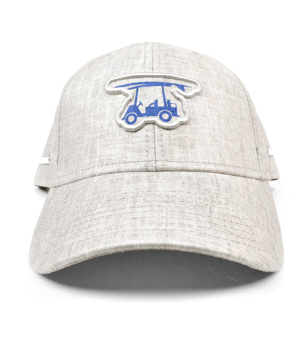 Coastal Linen Snapback Golf Hat - Grey Logo Hat - Bald Head Blues f1b06ac97664
