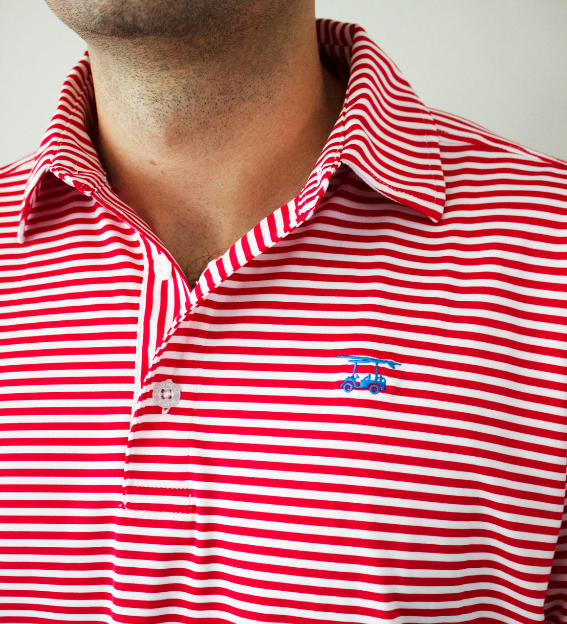 NEW Albatross Polo - State Red / White Stripes