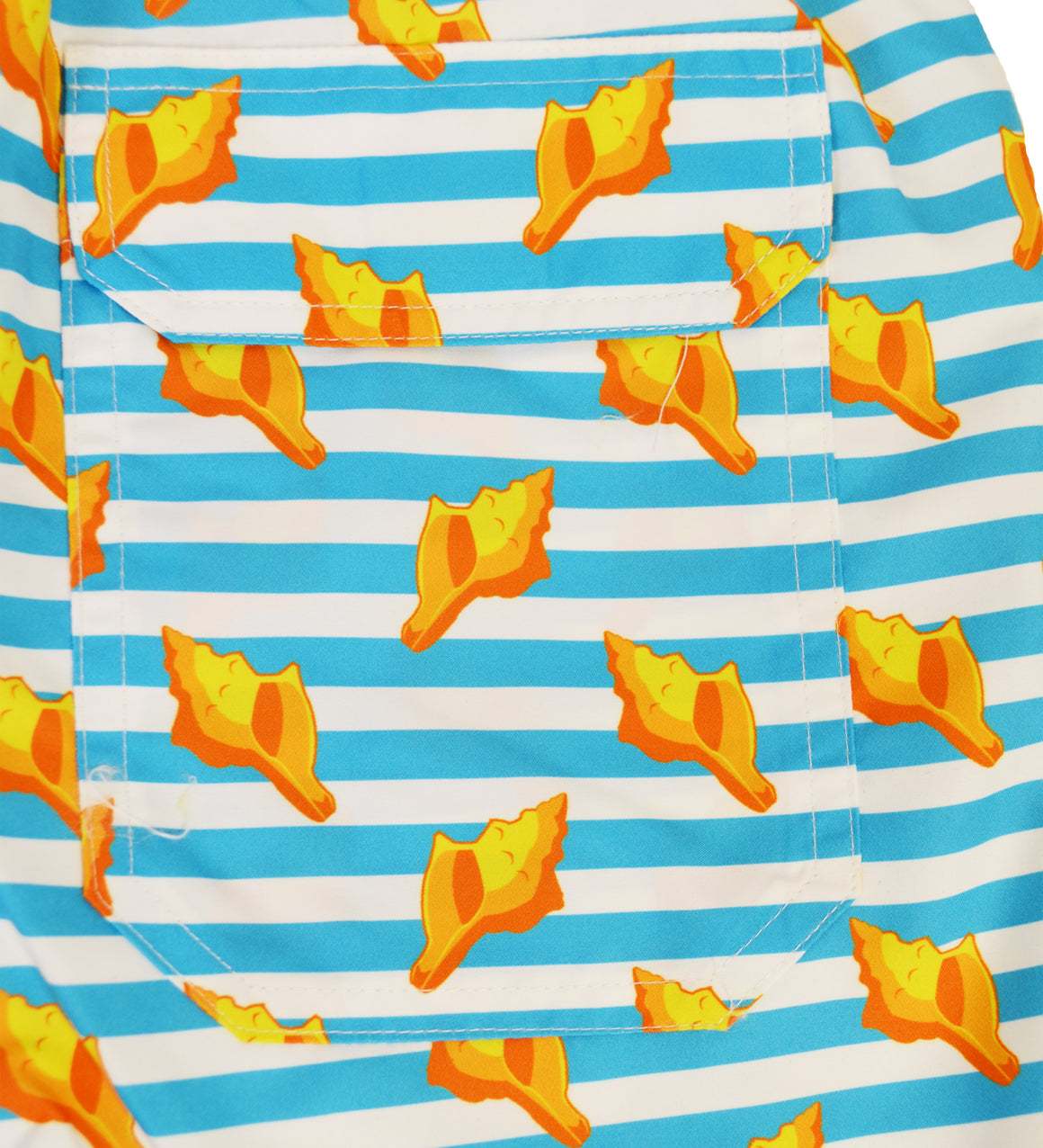 NEW Youth Swim Trunks - Conch Shells with Scuba Stripes
