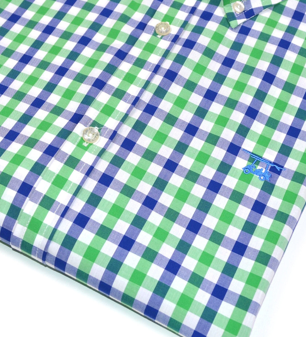 Shoals Club Button Down Shirt - Green Check