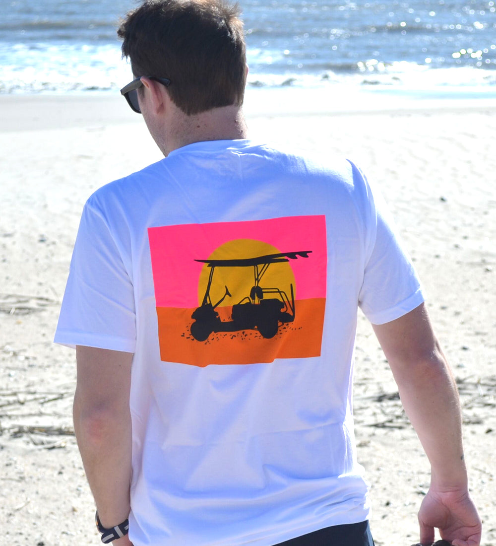 Island Tee - Endless Sunset - White