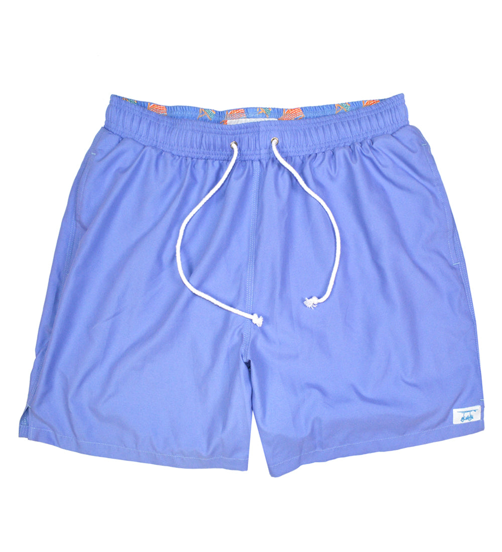 Solid Periwinkle Blue Swim Trunks