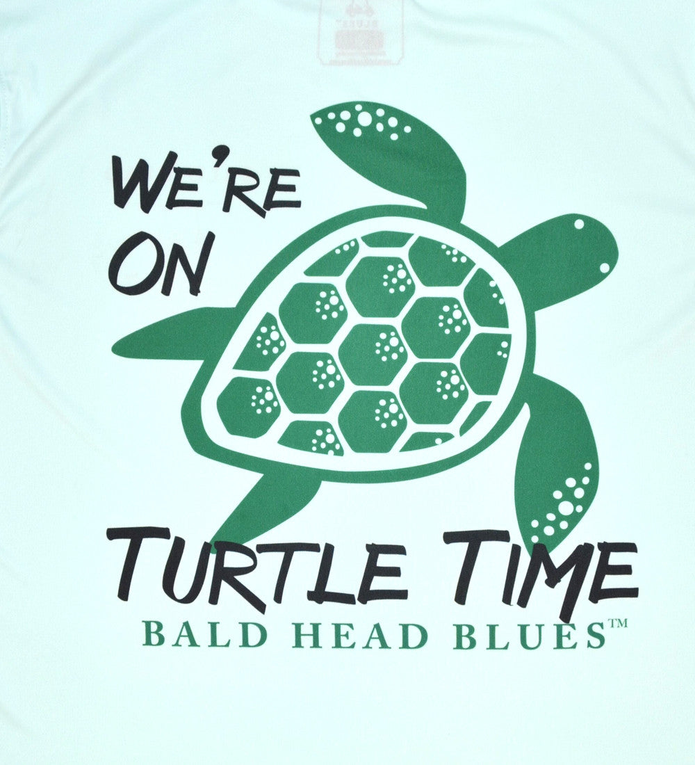 Performance Long Sleeve Turtle Time T-Shirt - Seagrass
