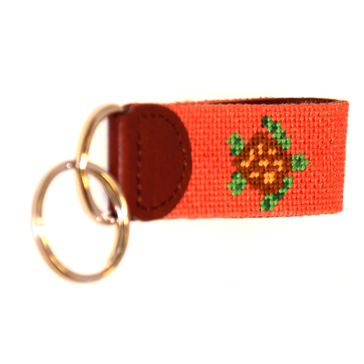 Needlepoint Key Fob - Sea Turtle