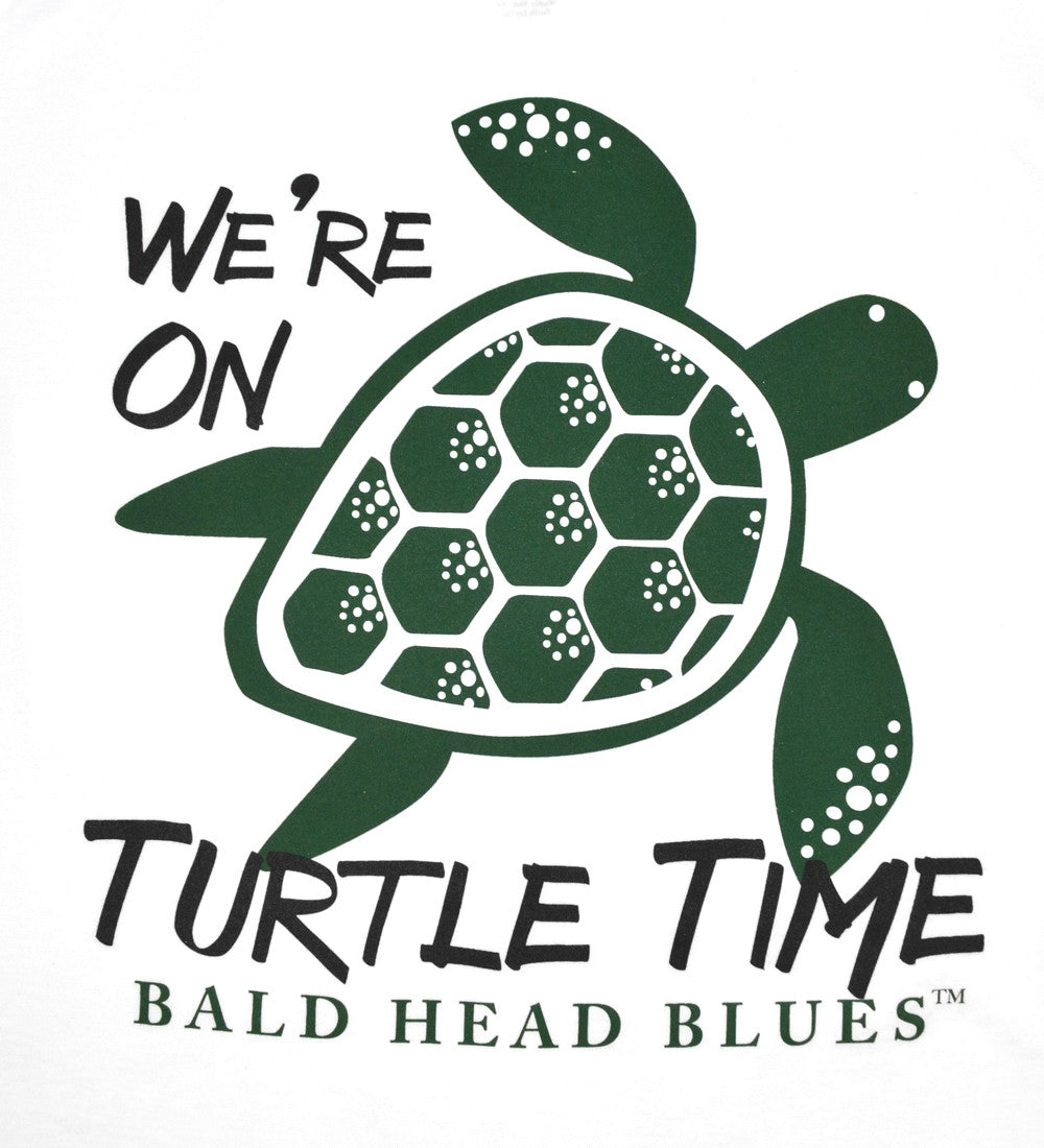 Island Tee - Short Sleeve Turtle Time - White
