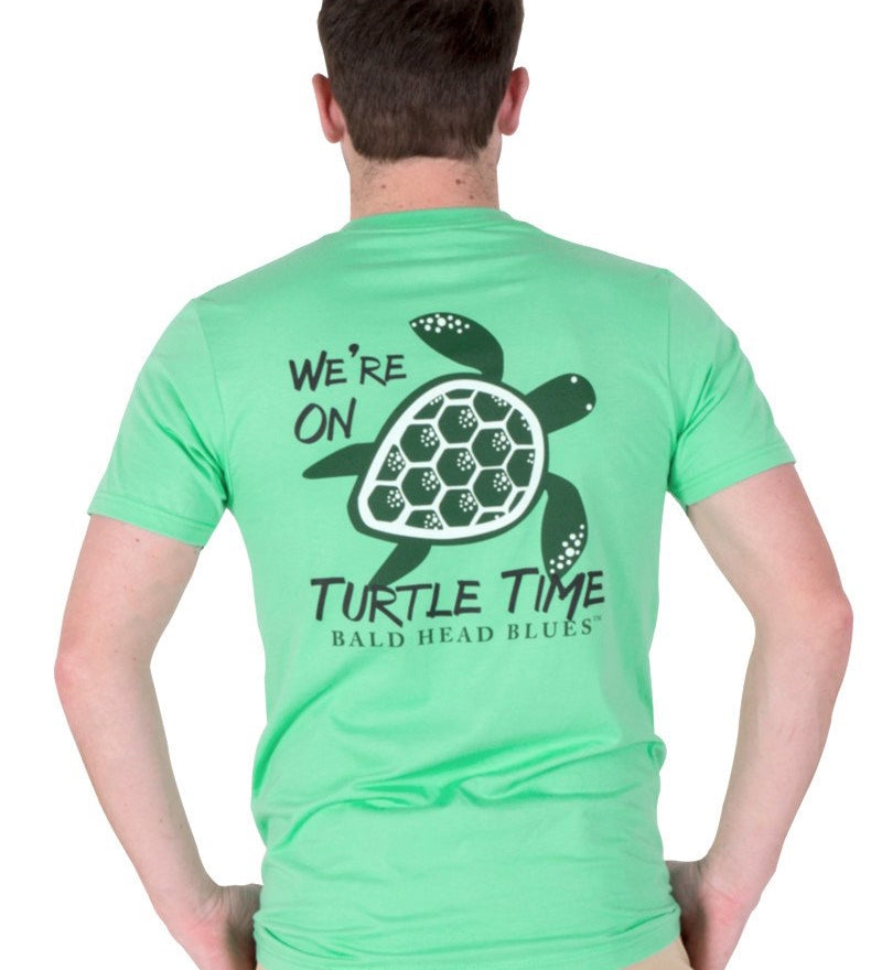 Island Tee - Short Sleeve Turtle Time - Clover Green
