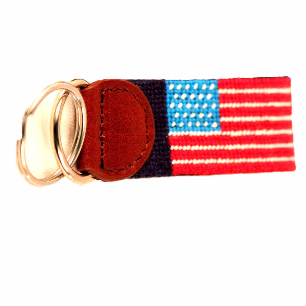 Needlepoint Key Fob - USA Flag