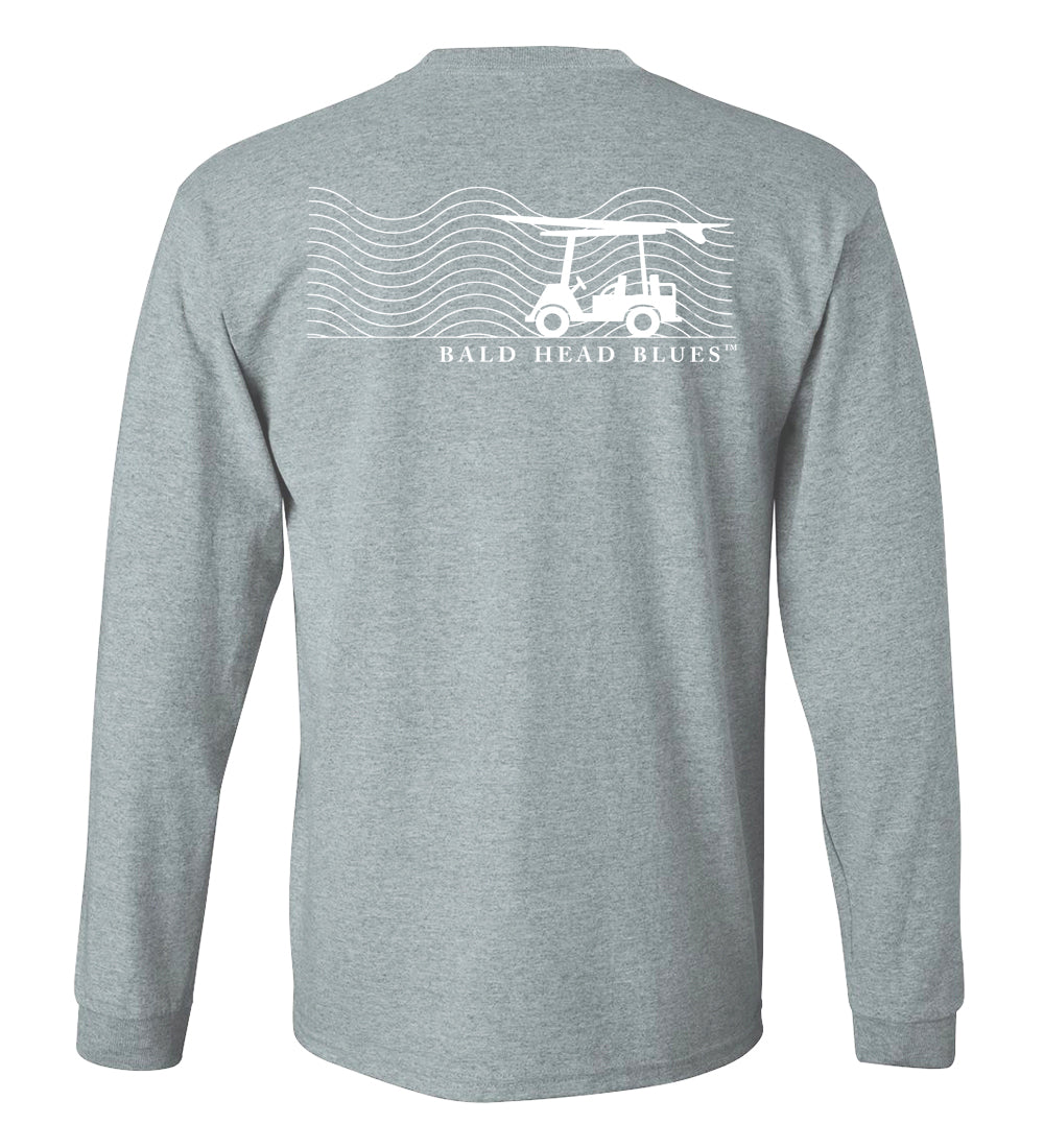 Island Tee - Long Sleeve Wave - Heather Grey