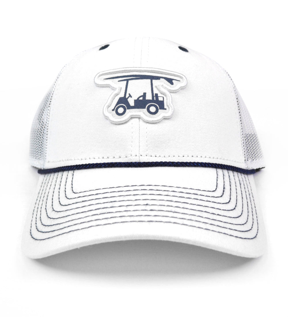 Coastal Mesh Trucker Hat - White Logo Hat - Bald Head Blues b173f3a9a9f3
