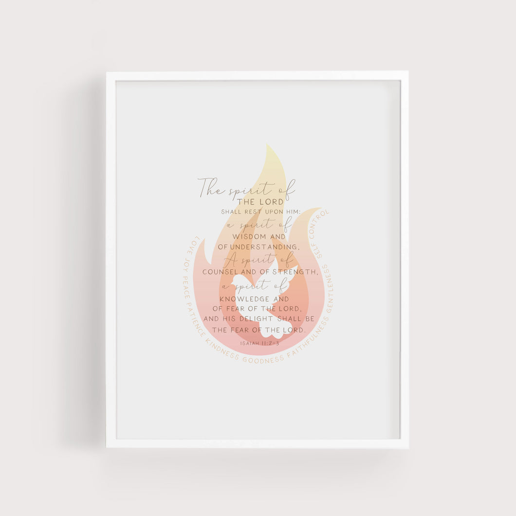 Gifts of the Holy Spirit | Isaiah 11:2-3 | Art Print