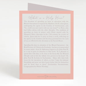 Holy Hour Card | Salmon