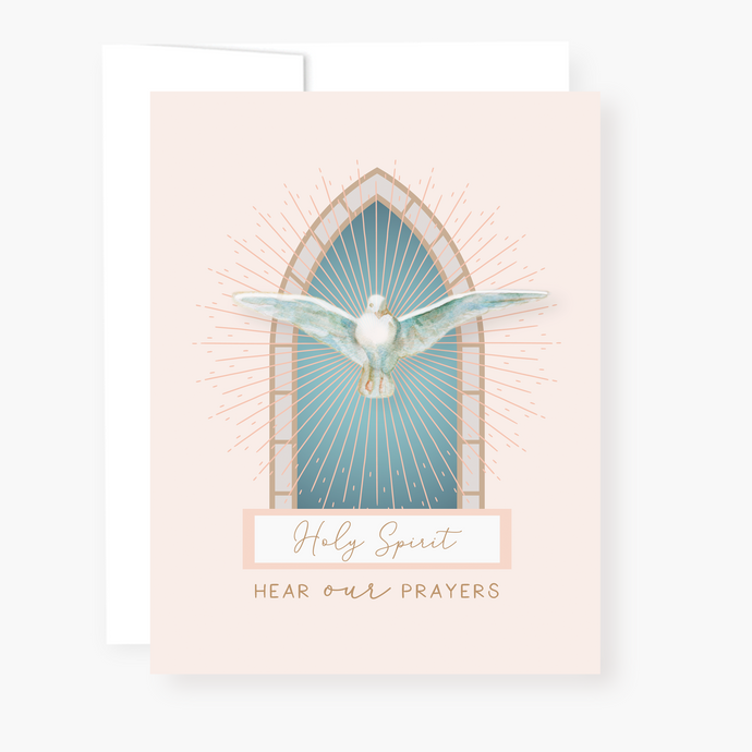 Holy Spirit Novena Card - front view