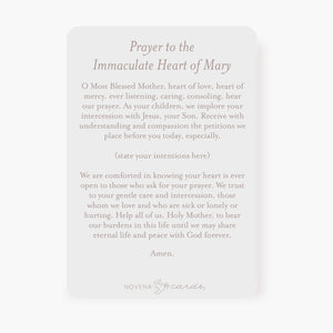 Immaculate Heart of Mary Prayer Card | Blue