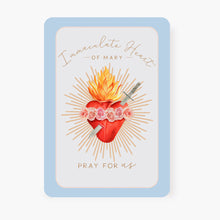 Load image into Gallery viewer, Immaculate Heart of Mary Prayer Card | Blue