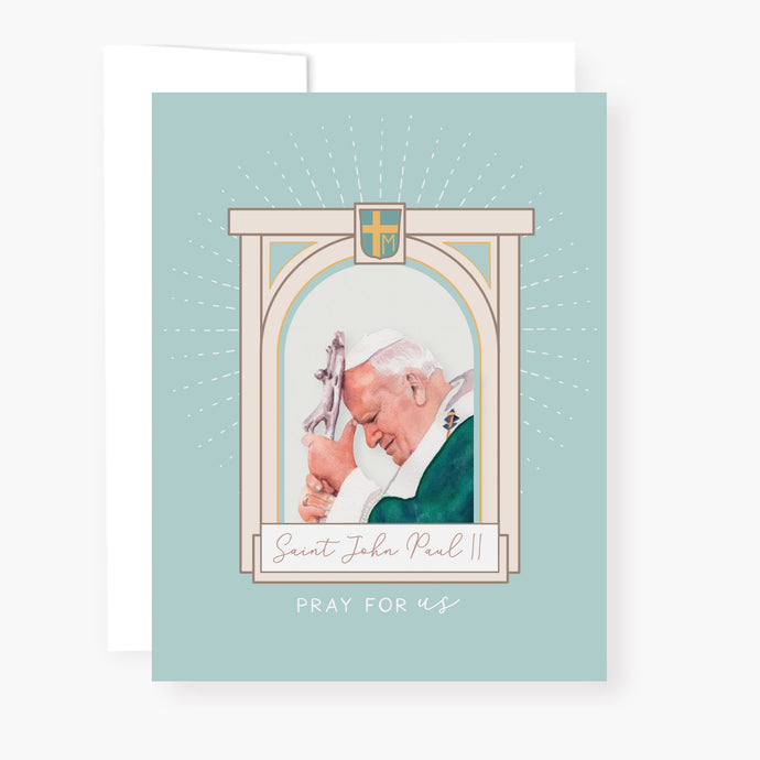 St. John Paul II Novena Card | Banner Design | Blue