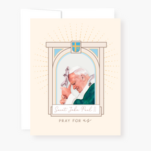 Load image into Gallery viewer, St John Paul II Novena Card - front view