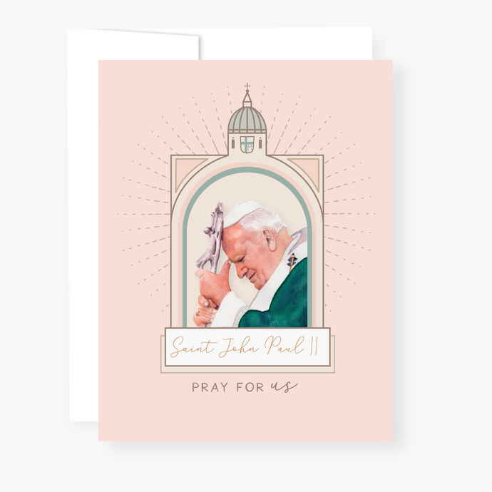 St John Paul II Novena Card - front view