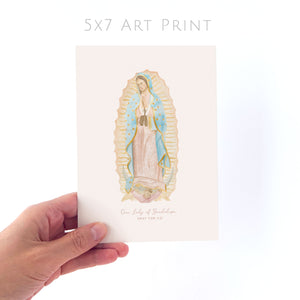 Our Lady of Guadalupe | Pray for Us | Art Print